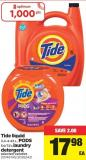 Tide Liquid - 3.4-4.43 L - PODS - 54/72's Laundry Detergent