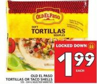 Old El Paso Tortillas Or Taco Shells 125 - 334 G