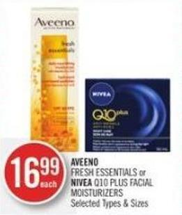 Aveeno Fresh Essentials or Nivea Q10 Plus Facial Moisturizers