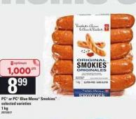 PC Or PC Blue Menu Smokies - 1 Kg
