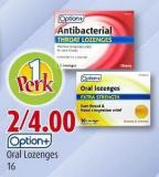 Option+ Oral Lozenges 16