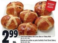 Front Street Bakery Hot Cross Buns Or Flakey Rolls