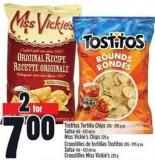 Tostitos Tortilla Chips 205 - 295 G Or Salsa 416 - 423 Ml Or Miss Vickie's Chips 220 G