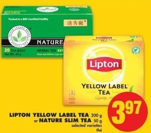 Lipton Yellow Label Tea - 200 G Or Nature Slim Tea - 50 G