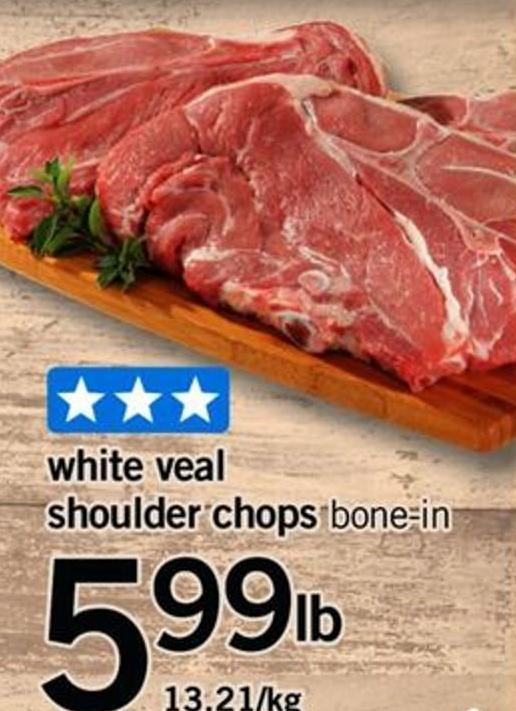 White Veal Shoulder Chops
