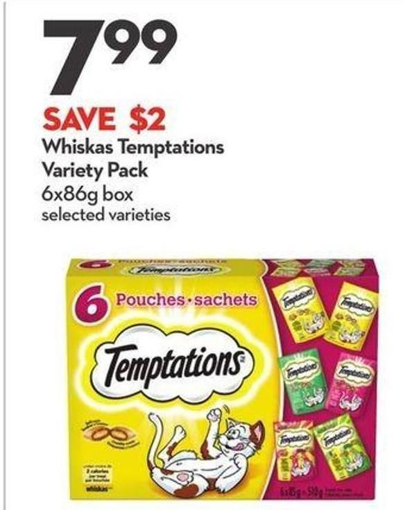 Whiskas Temptations Variety Pack