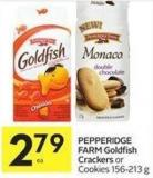 Pepperidge Farm Goldfish Crackers or Cookies 156-213 g