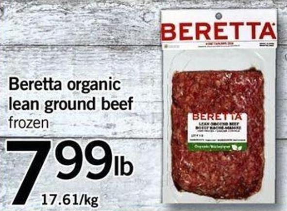 Beretta Organic Lean Ground Beef