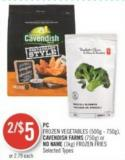PC Frozen Vegetables (500g - 750g) - Cavendish Farms (750g) or No Name (1kg) Frozen Fries