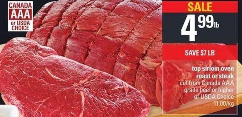 Top Sirloin Oven Roast Or Steak