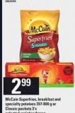 Mccain Superfries - Breakfast And Specialty Potatoes - 397-800 G Or Classic Pockets - 3's