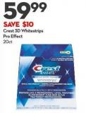 Crest 3D Whitestrips Pro Effect 20ct