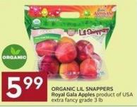 Organic Lil Snappers Royal Gala Apples Product of USA Extra Fancy Grade 3 Lb