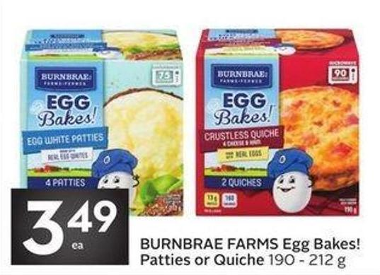 Burnbrae Farms Egg Bakes! Patties or Quiche