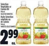 Selection Vegetable Or Canola Oil 946 ml
