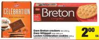 Dare Breton Crackers - 100-250 g - Dare Whippet 200-285 - g Or Leclerc Célébration Cookies - 240 g