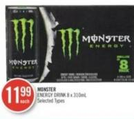 Monster Energy Drink 8 X 310ml