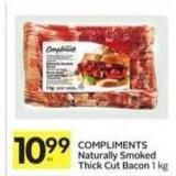 Compliments Naturally Smoked Thick Cut Bacon