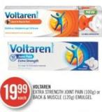Voltaren Extra Strength Joint (100 G) or Back & Muscle (120 G) Emulgel