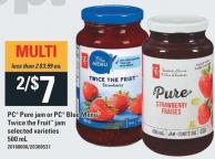 PC Pure Jam Or PC Blue Menu Twice The Fruit Jam - 500 mL