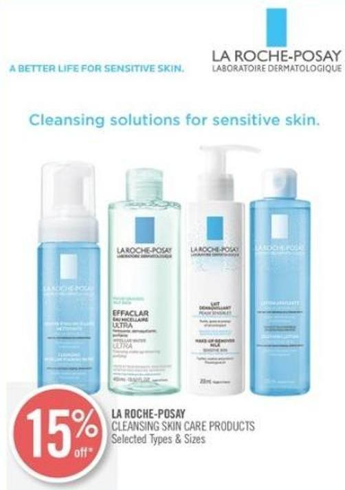 La Roche-posay Cleansing Skin Care Products