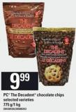 PC The Decadent Chocolate Chips Selected Varieties - 775 G