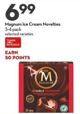 Magnum Ice Cream Novelties
