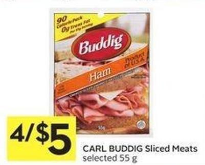 Carl Buddig Sliced Meats Selected 55 g