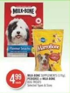 Milk-bone Supplements (170g) - Pedigree or Milk-bone Dog Treats