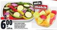 Fresh Melon Chunks Or Store Made Grillers