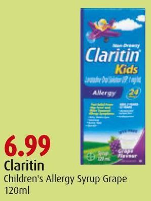 Claritin Children's Allergy Syrup Grape 120ml