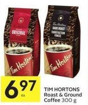 Tim Hortons Roast & Ground Coffee