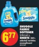 Snuggle Fabric Softener - 2.95-3.41 L - Sheets - 200's