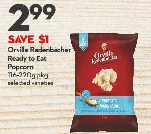 Orville Redenbacher Ready To Eat  Popcorn 116-220g Pkg