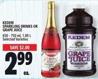 Kedem Sparkling Drinks Or Grape Juice 650 - 750 ml - 1.89 L