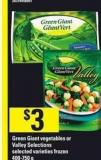 Green Giant Vegetables Or Valley Selections - 400-750 g
