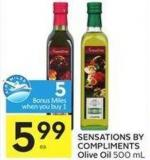 Sensations By Compliments Olive Oil 500 mL - 5 Air Miles Bonus Miles