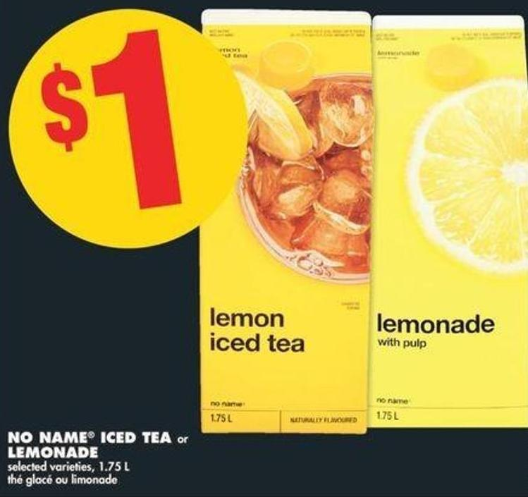 No Name Iced Tea Or Lemonade - 1.75 L