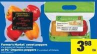 Farmer's Market Sweet Peppers - 4's Or PC Organics Peppers - 2's