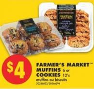 Farmer's Market Muffins - 6 or Cookies - 12's