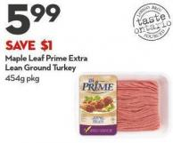 Maple Leaf Prime Extra Lean Ground Turkey 454g