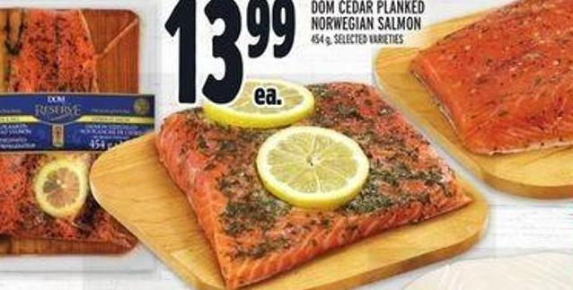 Dom Cedar Planked Norwegian Salmon