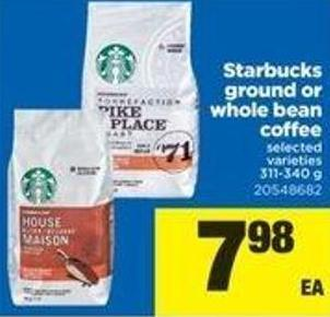 Starbucks Ground Or Whole Bean Coffee - 311/340 G
