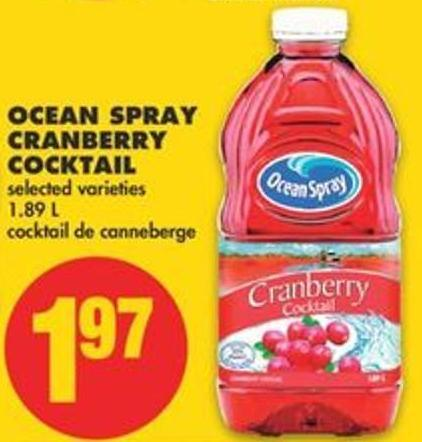Ocean Spray Cranberry Cocktail - 1.89 L