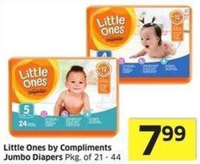 Little Ones By Compliments Jumbo Diapers Pkg of 21 - 44
