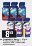 Ensure - 6 X 235 mL - Glucerna - 6 X 237 mL Or Pediasure Complete - 4 X 235 mL Meal Replacement Drinks