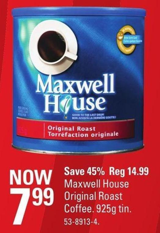 Maxwell House Original Roast Coffee