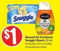 Renuzit Air Freshener Snuggle Sheets 20 Pk