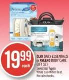 Olay Daily Essentials or Aveeno Body Care Gift Set