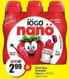Iögo Kids Drinkable Yogurt 6 X 93 mL